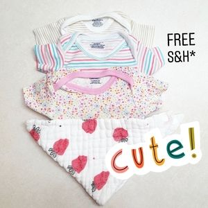 Onesie Set With Bib
